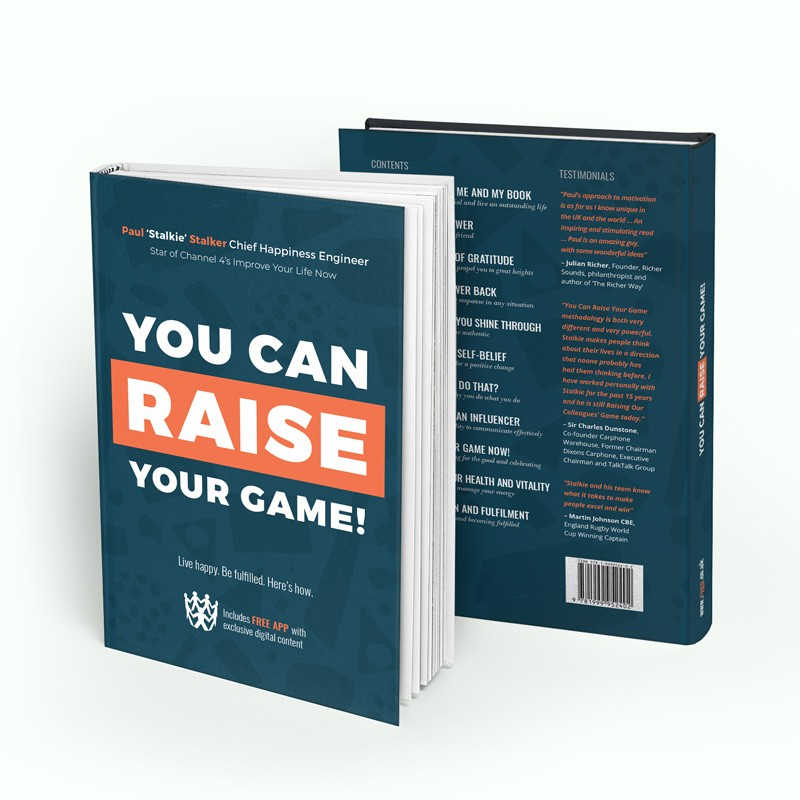 You Can Raise Your Game Book by Paul Stalkie Stalker, star of Channel 4. Order your book today. Transform your mindset and stack up on your self-belief.